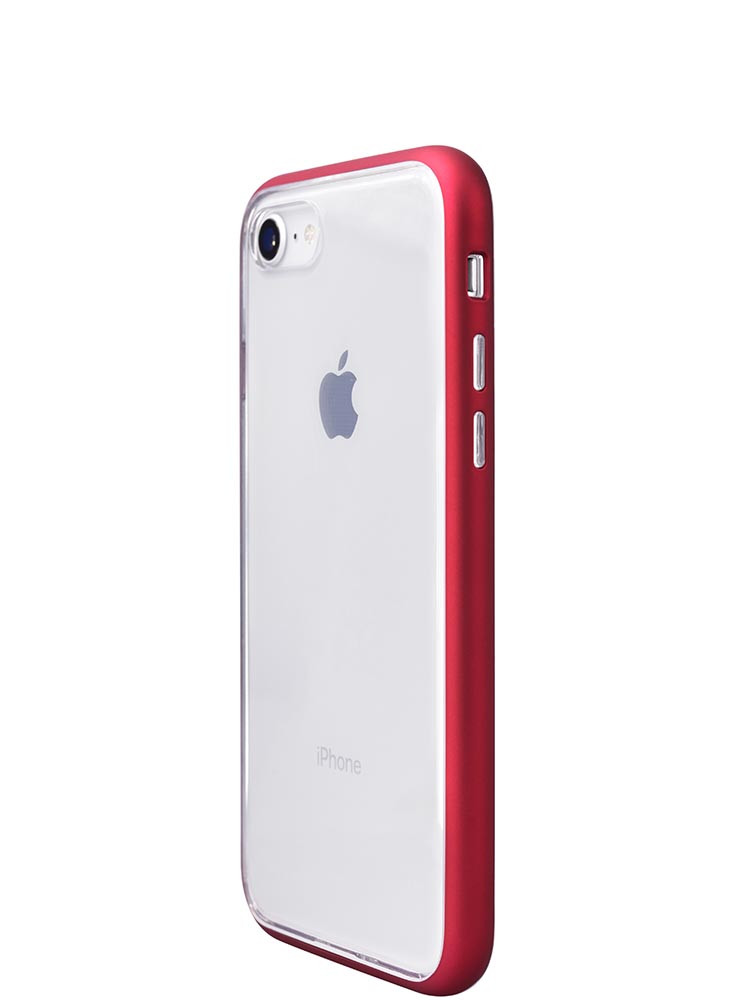 Shock Proof Air jacket for iPhone 8 Side Rubber Red