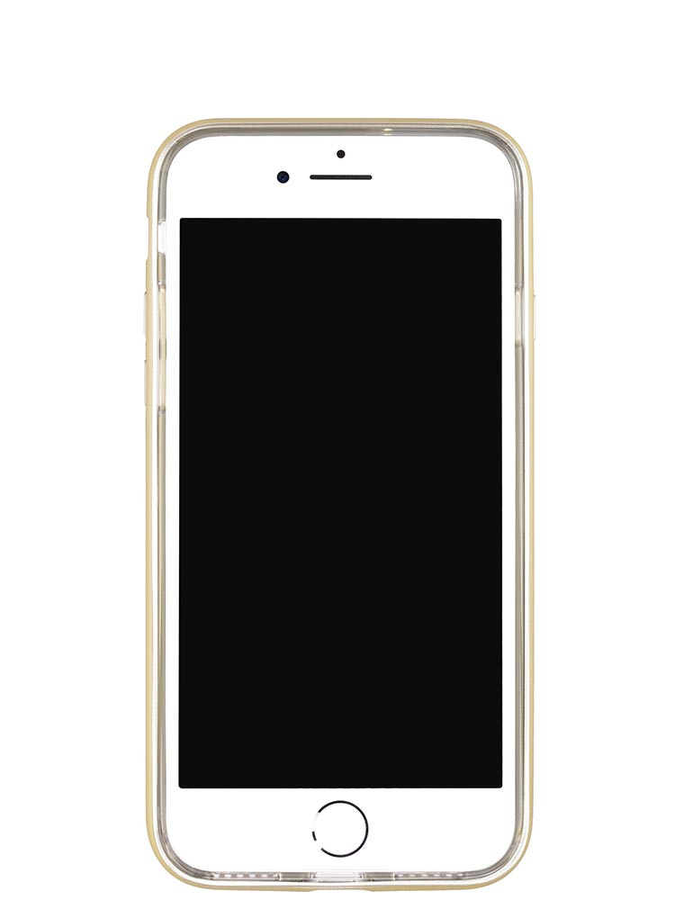 Shock Proof Air jacket for iPhone 8 Front Rubber Gold