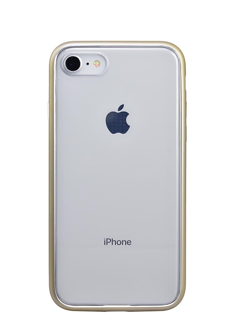 Shock Proof Air jacket for iPhone 8 Back Rubber Gold