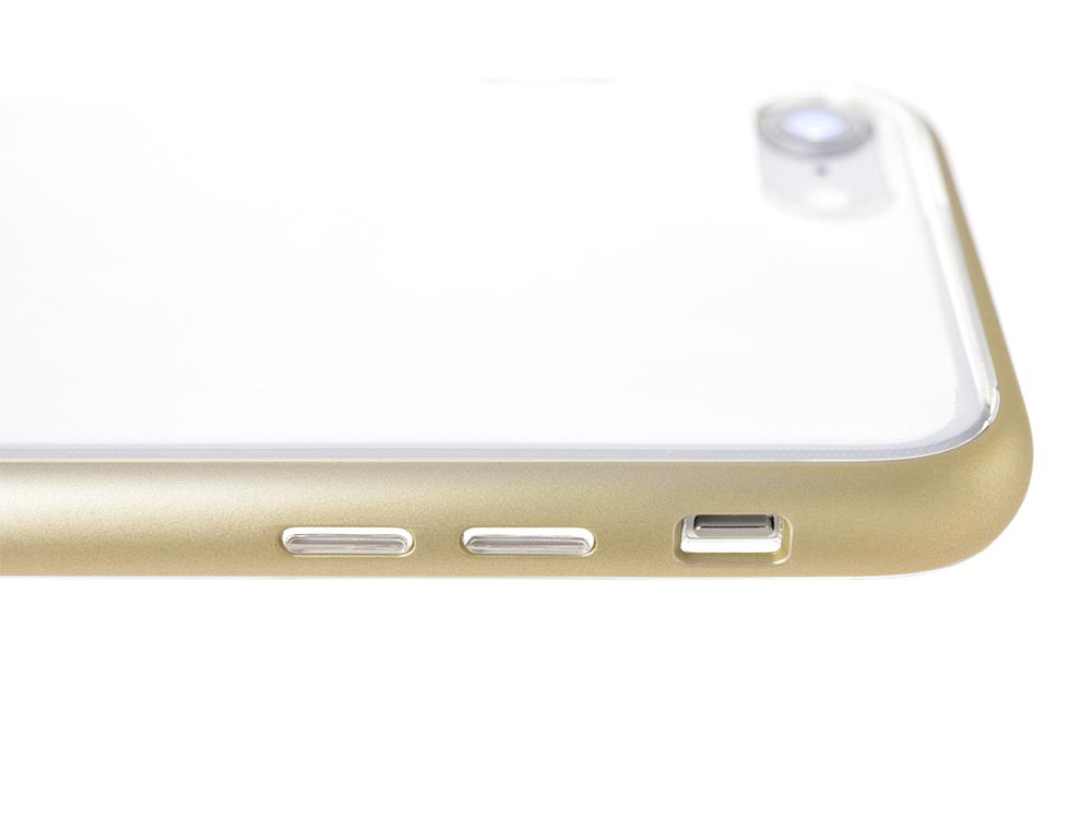 Shock Proof Air jacket for iPhone 8 Buttons Rubber Gold