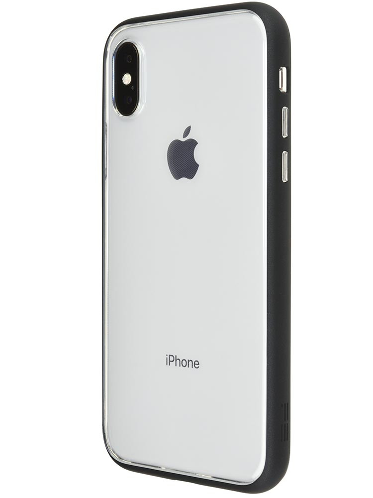 Shock Proof Air Jacket for iPhone X Rubber Black Back-side with iPhone X