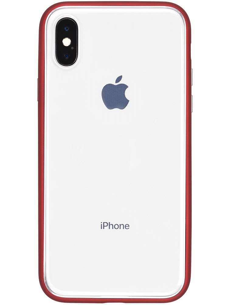 Shock Proof Air Jacket for iPhone X Rubber Red Back with iPhone X
