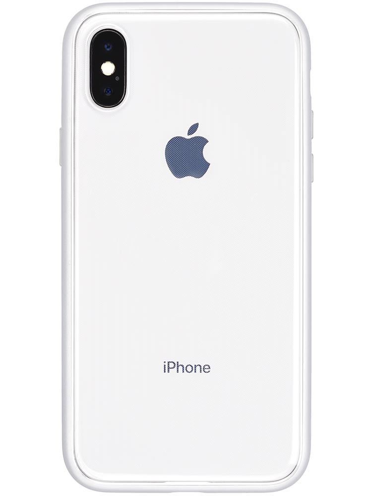 Shock Proof Air Jacket for iPhone X Rubber Silver Back with iPhone X