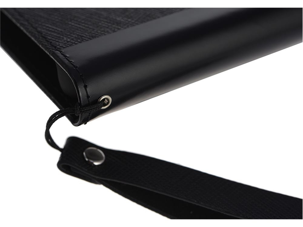 Leather Flip Case for iPhone X Black Strap