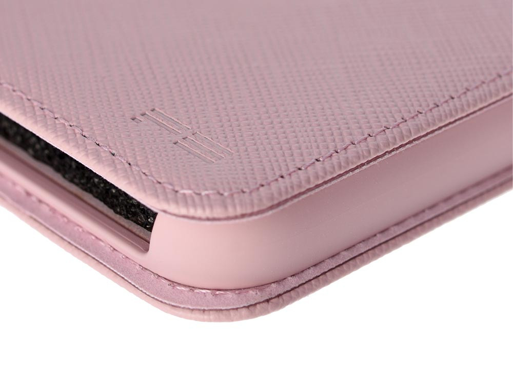 Leather Flip Case for iPhone X Rose Detail