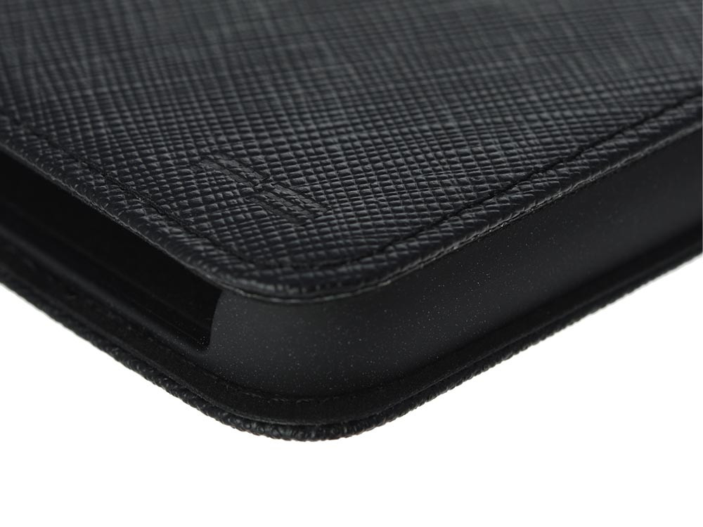 Leather Flip Case for iPhone X Black Detail