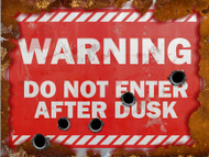 Warning Do Not Enter After Dusk Sign - Halloween Decor Prop Road and Lawn Decoration Sticker