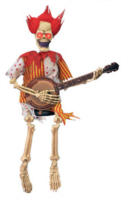 Animated Banjo Playing Clown