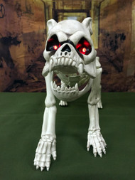 Skeleton Dog With Light-Up LED Eyes