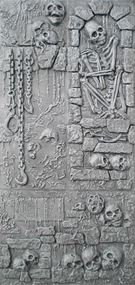 Skull Wall S1: Crypt and Chains (Unpainted Black)