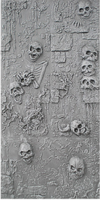 Skull Wall S2: Stack of Skulls (Unpainted Black)