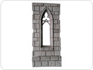 Cathedral Wall With Narrow Gothic Window (Unpainted Black)