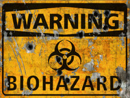 Warning Biohazard Sign - Halloween Decor Prop Road and Lawn Decoration Sticker