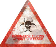 Radiation Radius Sign - Halloween Decor Prop Road and Lawn Decoration Sticker