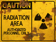Radiation Area Sign - Halloween Decor Prop Road and Lawn Decoration Sticker