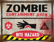 Bite Hazard Sign - Halloween Decor Prop Road and Lawn Decoration Sticker