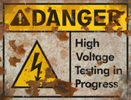 Danger High Voltage Sign - Halloween Decor Prop Road and Lawn Decoration Sticker