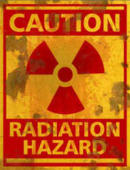 Radiation Hazard THICK Sign - Halloween Decor Prop Road and Lawn Decoration