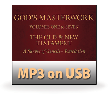 God's Masterwork Complete Series, Volumes 1-7.  68 MP3 on USB Series