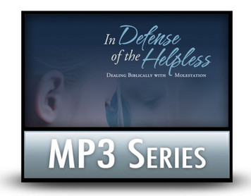 In Defense of the Helpless.  3 MP3 Download