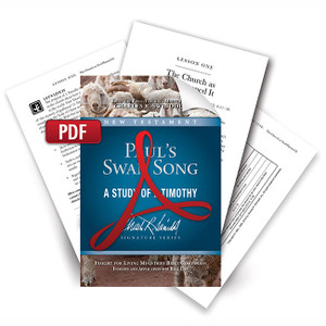 Paul's Swan Song.  Digital Bible Companion.  PDF Download