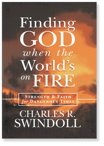 Finding GOD When the World's on FIRE.  Hardback Book
