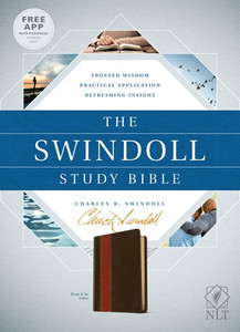 The Swindoll Study Bible.  NLT   Brown/Tan Leather Like Book