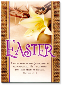 Seek Jesus.  Easter Card