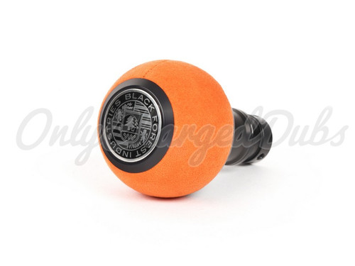 VW/Audi BFI Heavy Weight Shift Knob - Black Anodized - Orange Alcantara