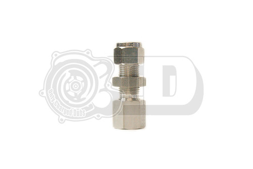 "3/8"" OD - 1/4"" Female NPT Bulkhead Compression Stainless Fitting"