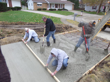 Just say no sealgreen for How to pour a concrete driveway