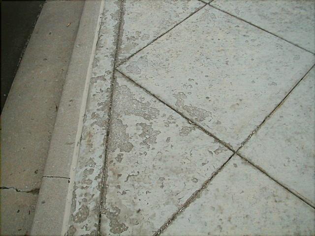 concrete surface peeling