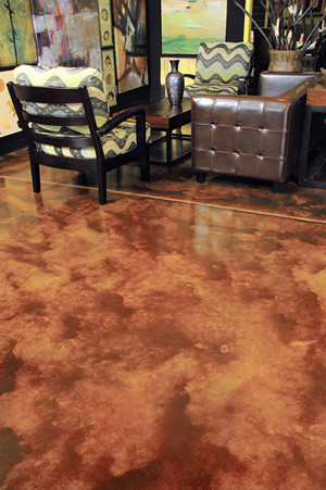 Bark Brown Color Floor
