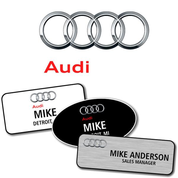 Audi Name Badges