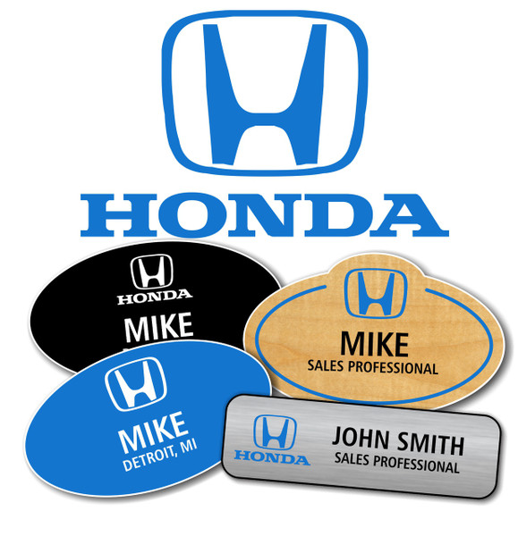 Honda Name Badges