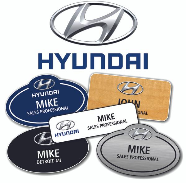 Hyundai Name Badges