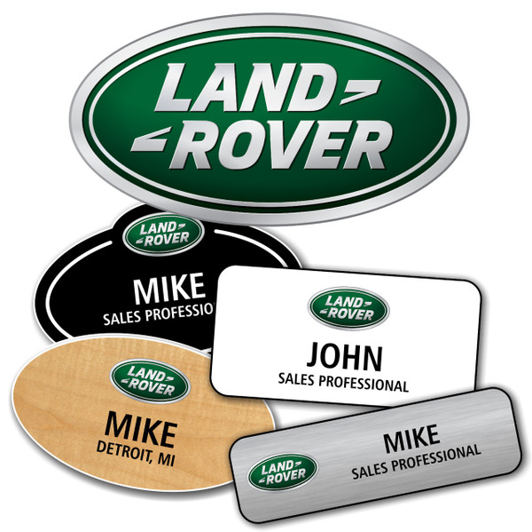 Land Rover Name Badges