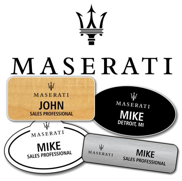 Maserati Name Badges