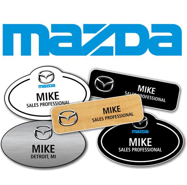 Mazda Name Badges