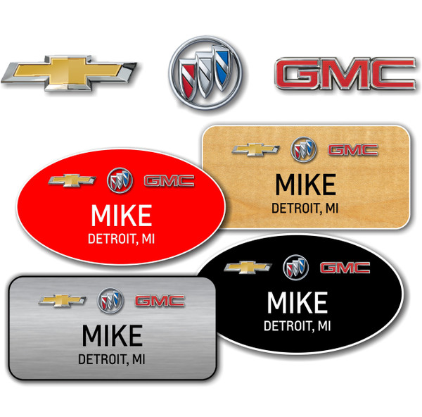 Chevrolet Buick GMC Name Badges