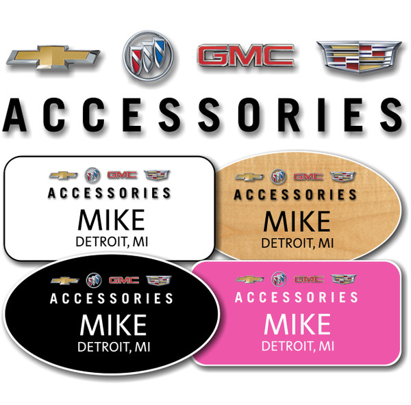 GM Accessories Name Badges