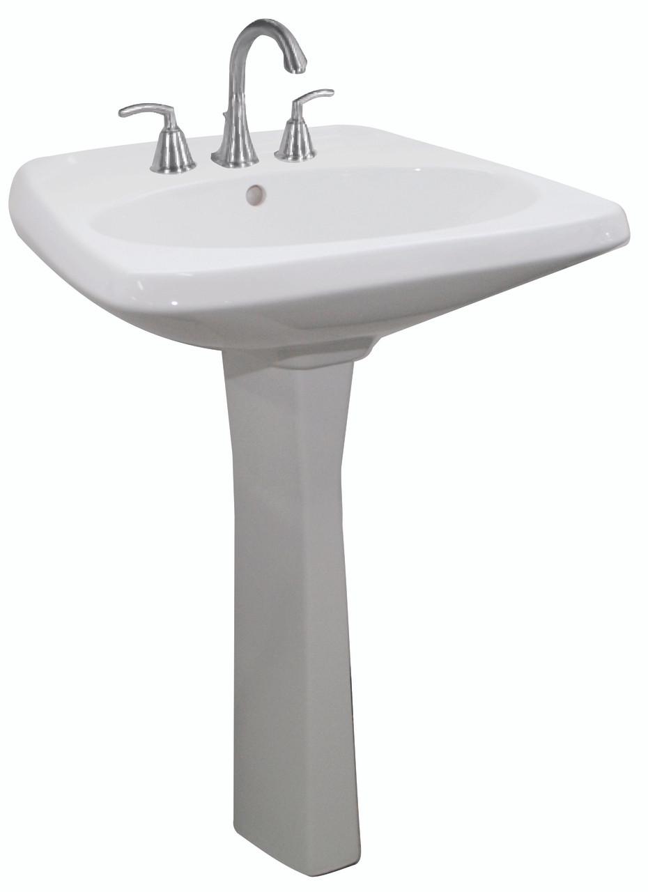 American Standard Sorrento Pedestal Lavatory Sink in White 08AMS ...