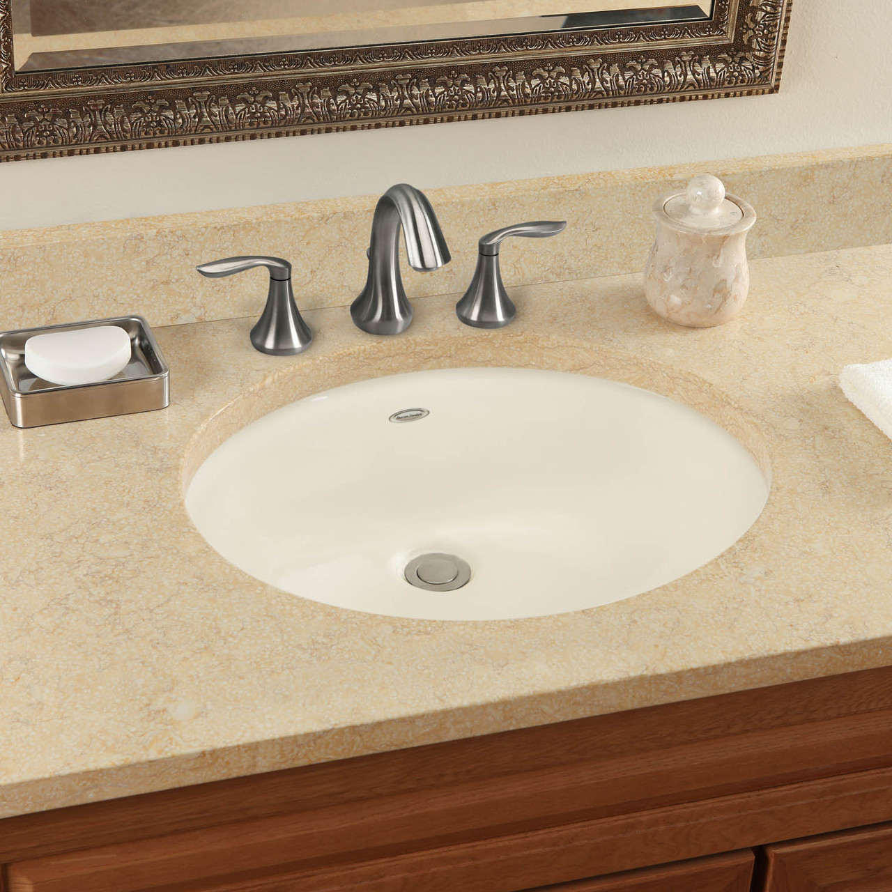 American Standard Ovalyn Undermount Lavatory Sink In White 08ams