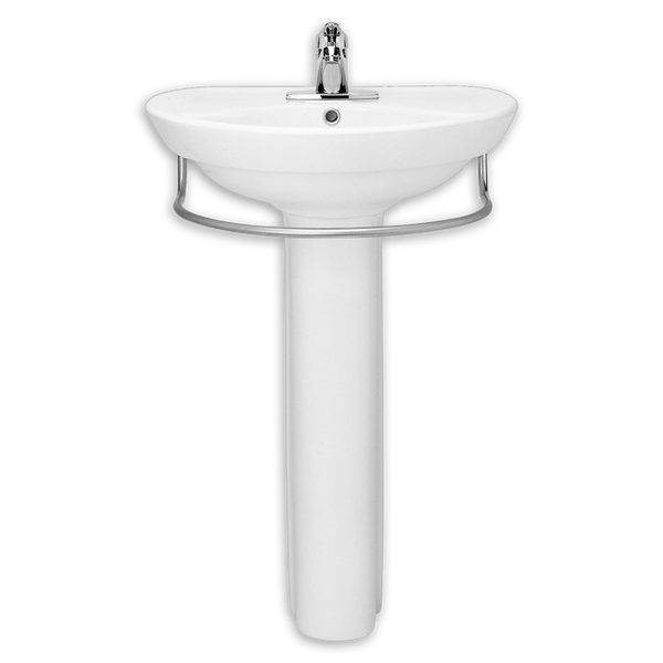 18 Inch Pedestal Sink : ... Inch Pedestal Lavatory Sink with Towel Bar in White 08AMS-0268802-020