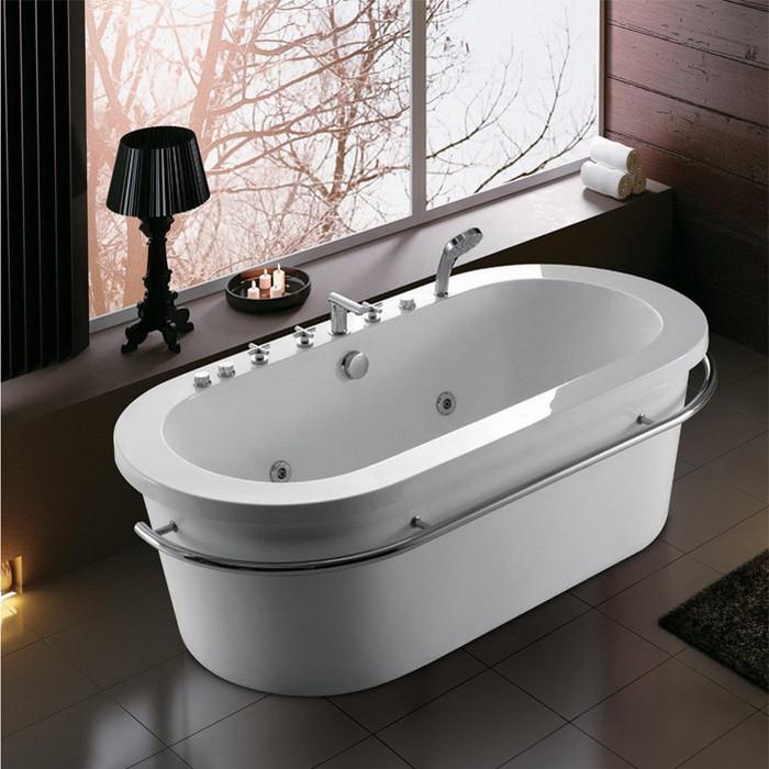 Korra Freestanding Whirlpool Bathtub (07KO-K1025)