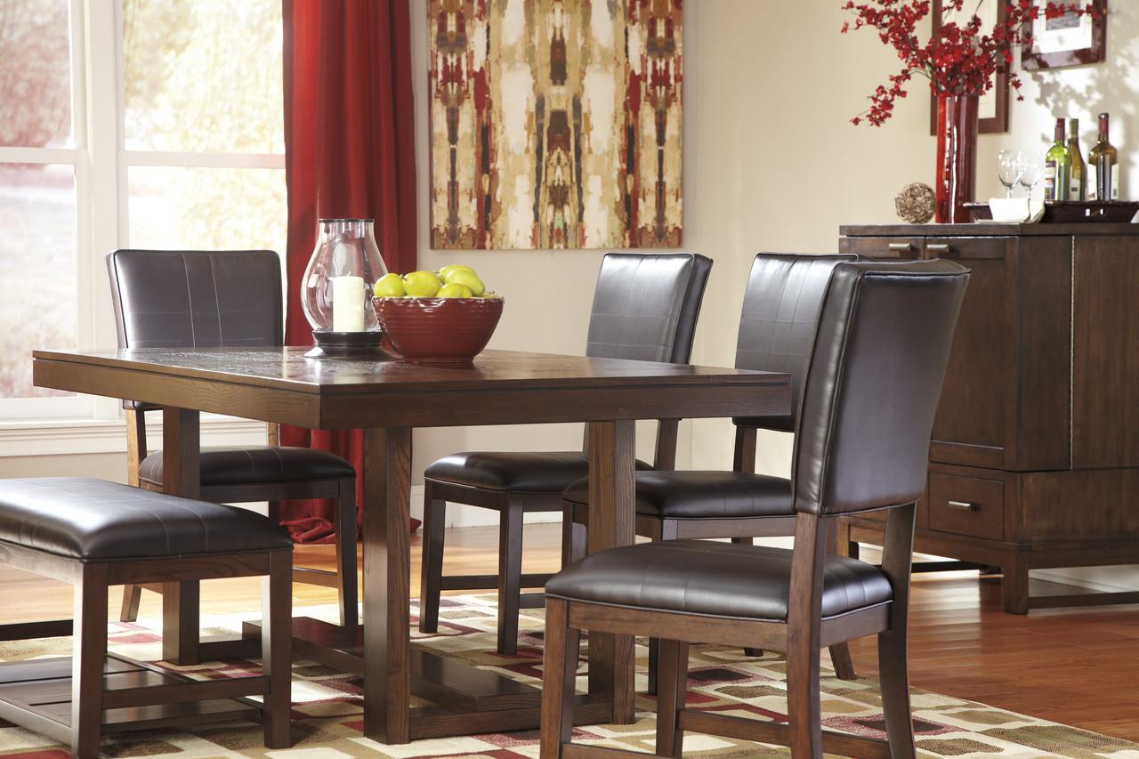 Ashley Watson Rectangular Dining Room Table in Dark Brown 25AS