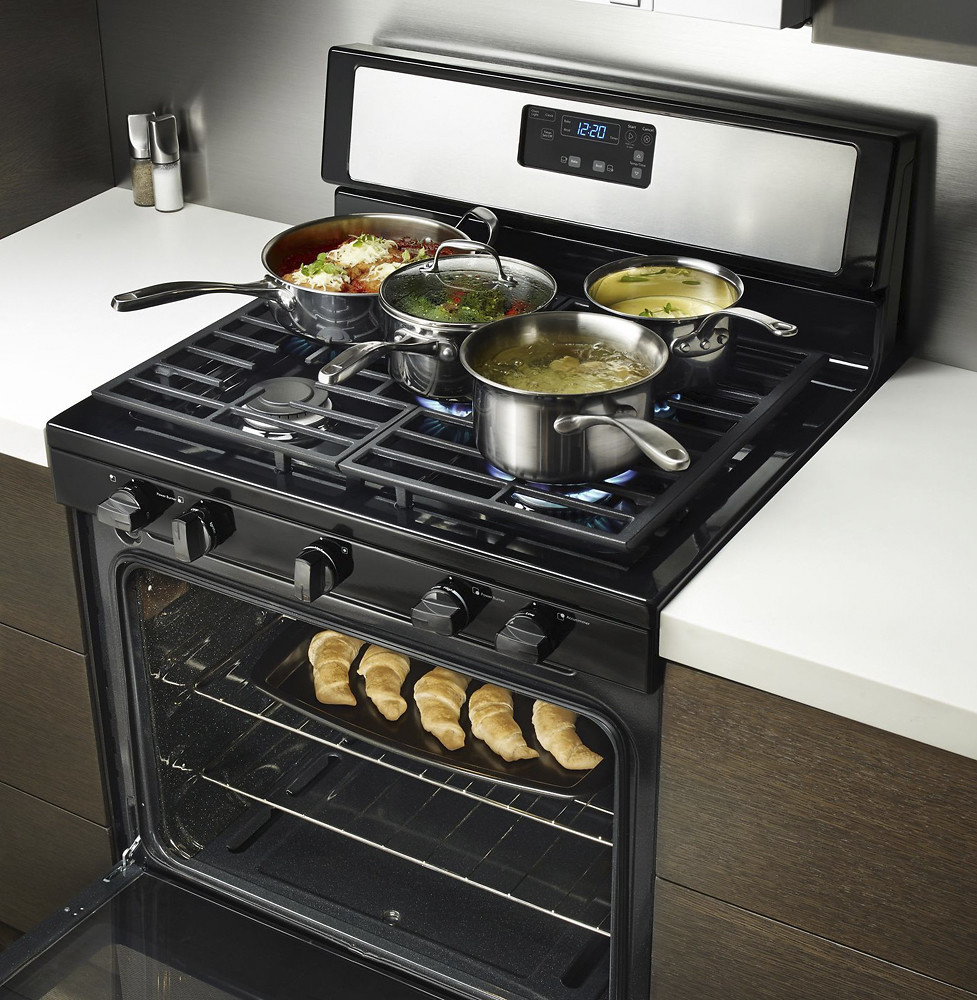 Whirlpool 5 1 Cu Ft Freestanding 5 Burner Gas Range In