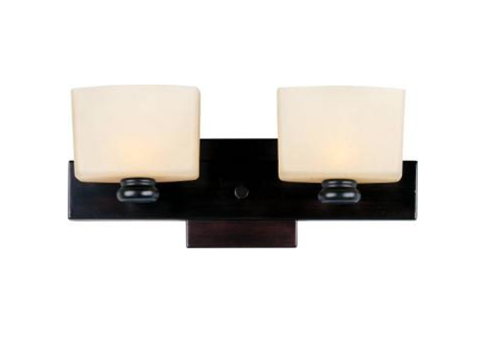 Active home centre 2 light wall sconce in bronze 30gr gw8410n2rob brz image 1 aloadofball