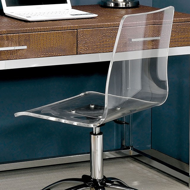 acrylic office chair. furniture of america tilly office chair in clear acrylic 25facmfc6403a i