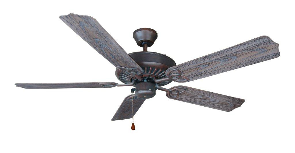 "Bali Montego 52"" Outdoor Ceiling Fan in Antique Bronze"